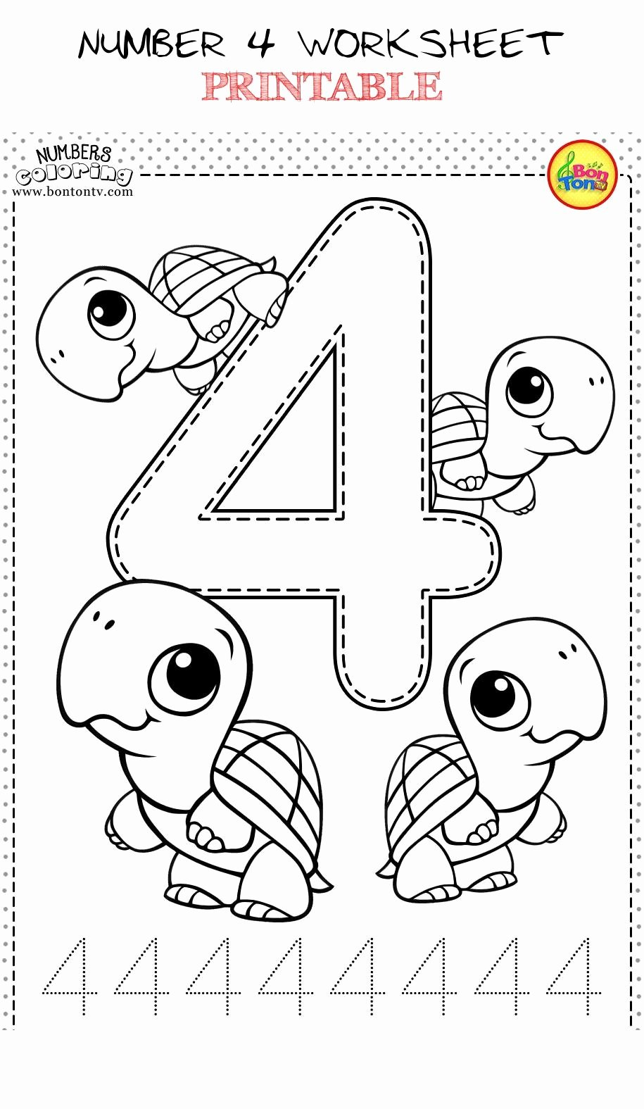 Number 4 Worksheets for Preschoolers Beautiful Number 4 Worksheet Printable Number Coloring Worksheets for
