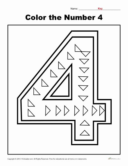 Number 4 Worksheets for Preschoolers New Color the Number Preschool Worksheet Worksheets for Free
