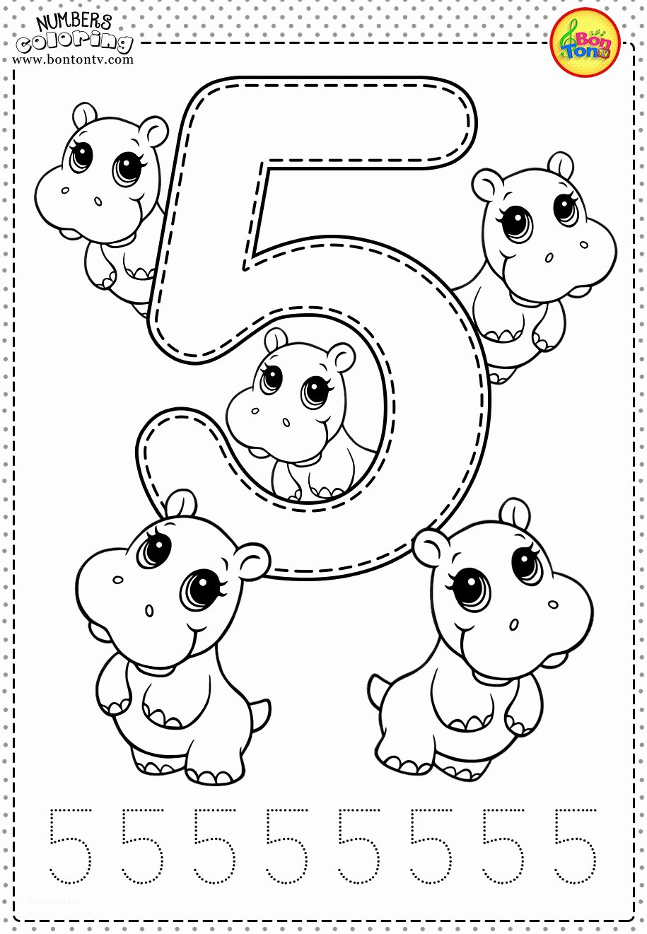 Number 5 Worksheets for Preschoolers Best Of Coloring Pages Printable Coloring Book for toddlers Fresh