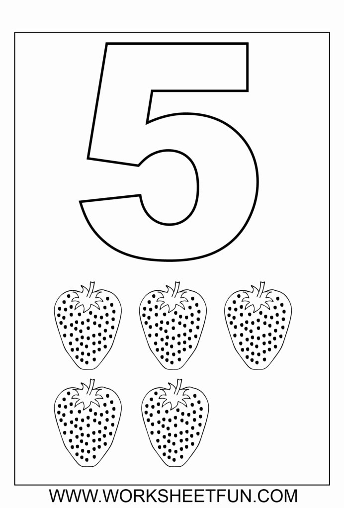 Number 5 Worksheets for Preschoolers Fresh Math Worksheet Number Preschool Ideas Tracing Numbers 4 and