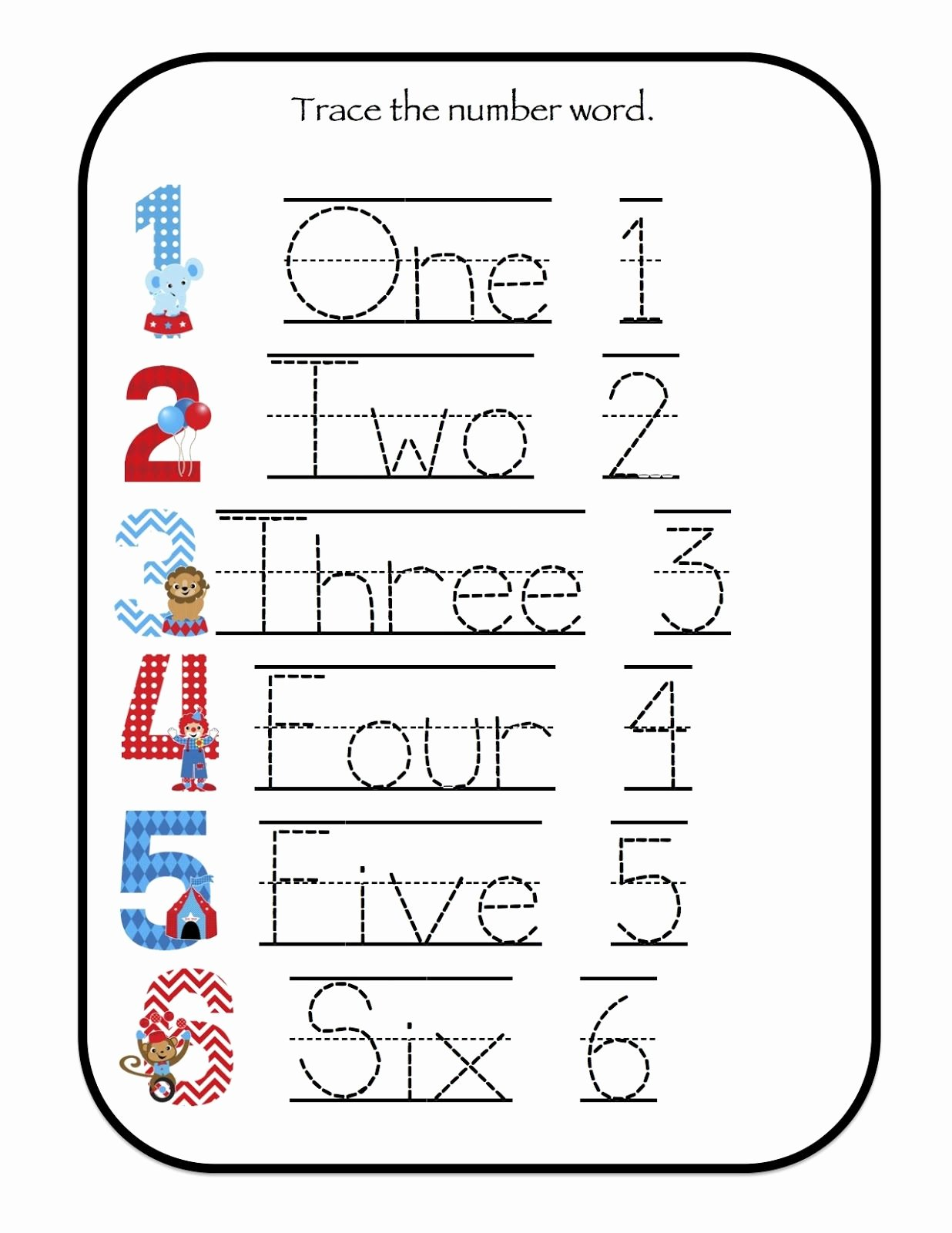 Number 6 Worksheets for Preschoolers top Number 6 Worksheets for Preschool