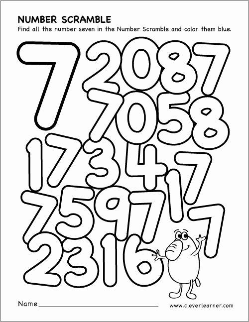 Number 7 Worksheets for Preschoolers Awesome Preschool Math All About the Number 7 Worksheets