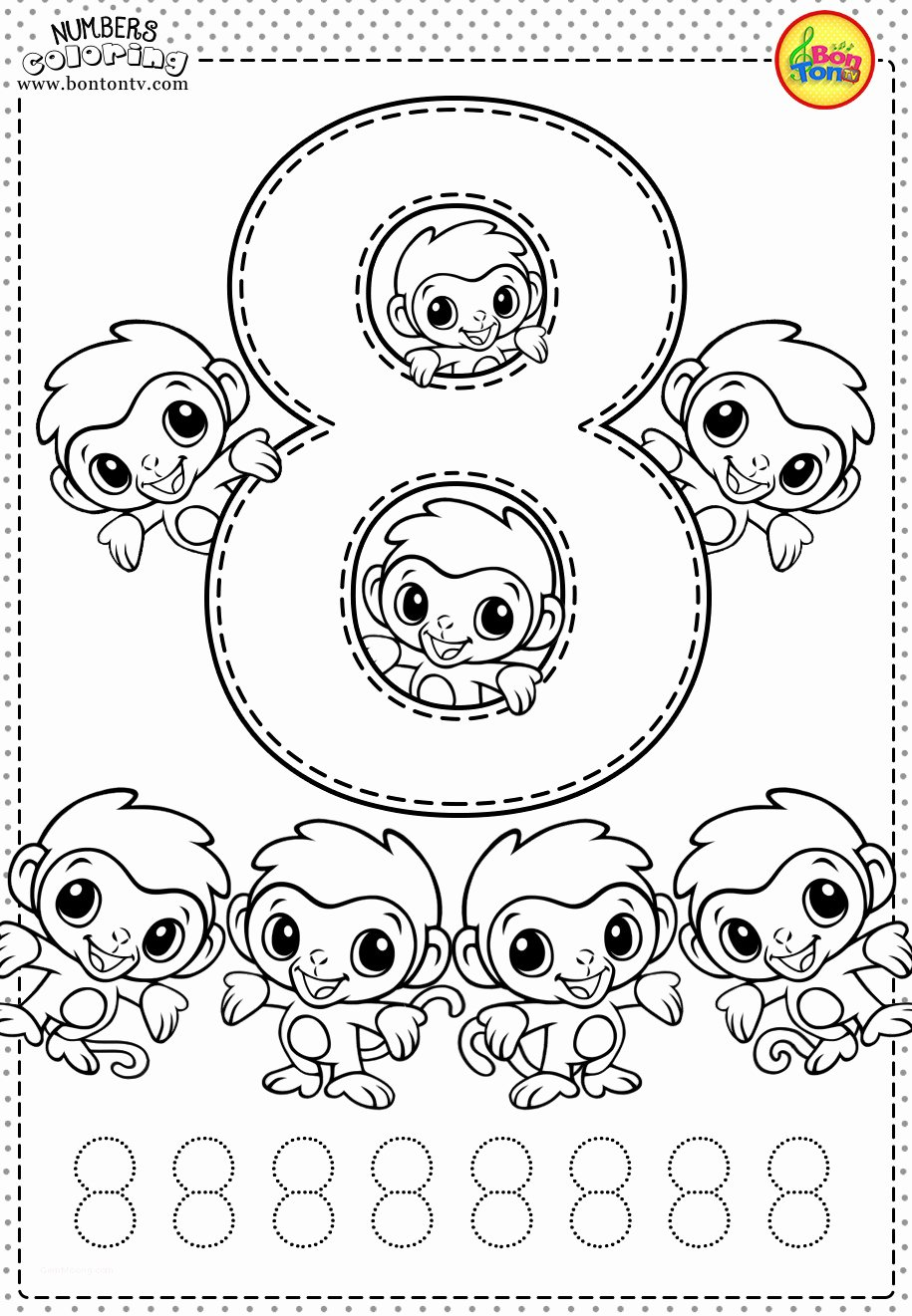 Number 8 Worksheets for Preschoolers Inspirational Coloring Pages Childrens Printable Coloring Pages Awesome