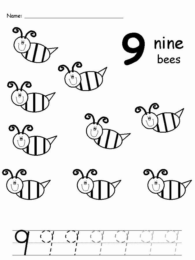 Number 9 Worksheets for Preschoolers Unique Printable Number 9 Worksheets Number 9 Worksheets Free