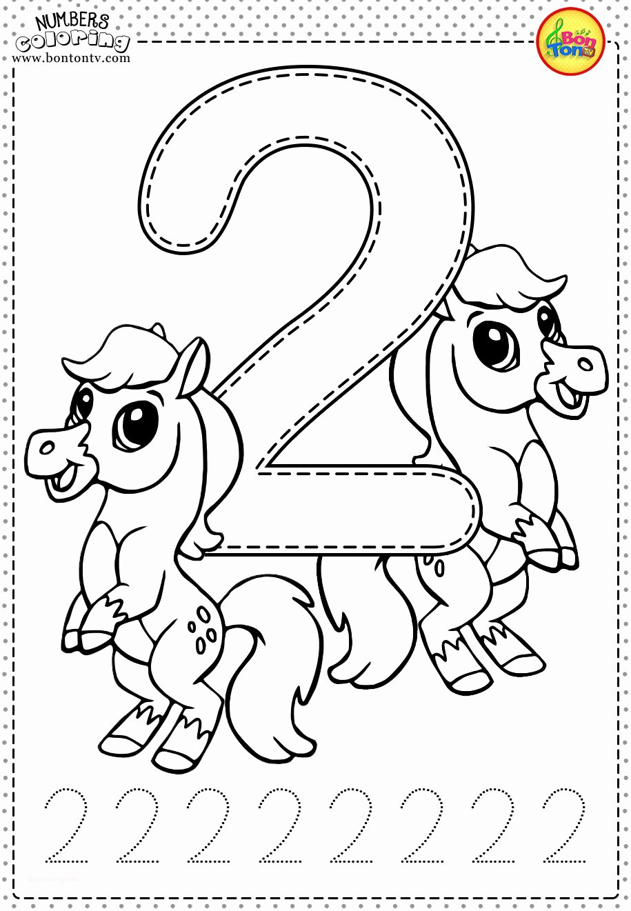 Number Coloring Worksheets for Preschoolers Awesome Printable Number Coloring Pages Book for toddlers Fresh