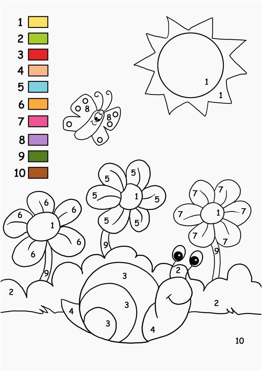 Number Coloring Worksheets for Preschoolers Lovely Worksheet Color by Number Coloringges with Key Portraits