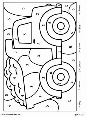 Number Coloring Worksheets for Preschoolers top Kindergarten Color by Number Printable Worksheets