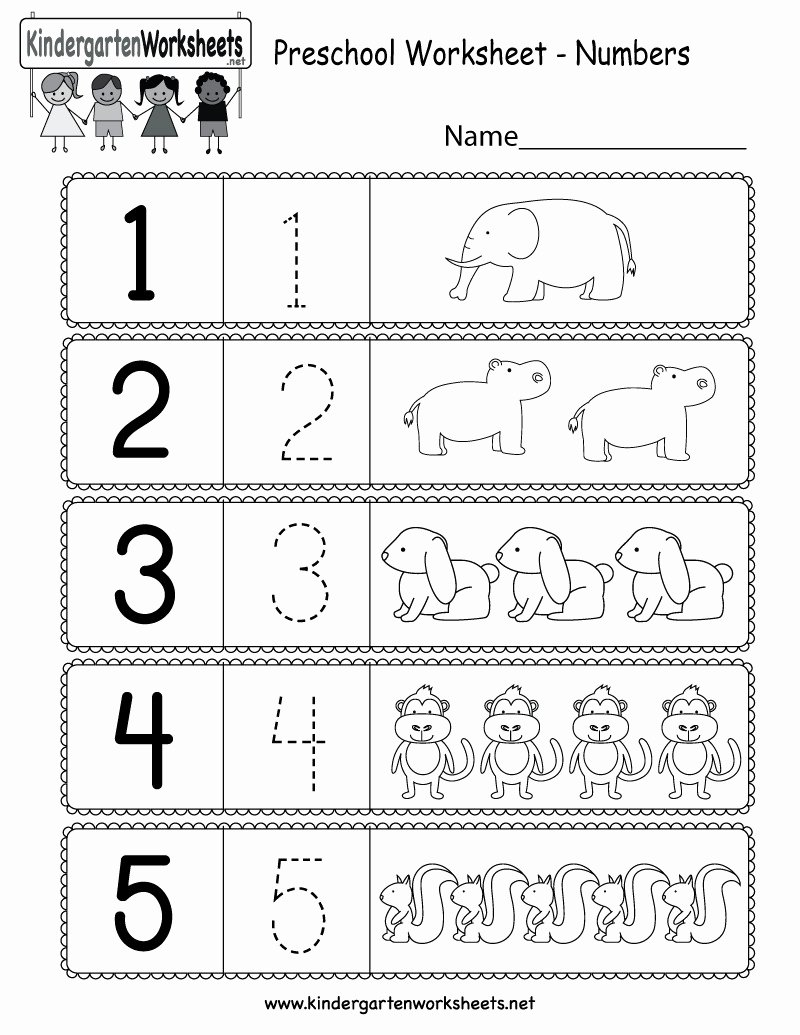 Number Counting Worksheets for Preschoolers Awesome 5 Free Preschool Kindergarten Worksheets Counting