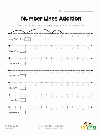 Number Line Worksheets for Preschoolers Best Of Number Lines Addition Worksheet 1