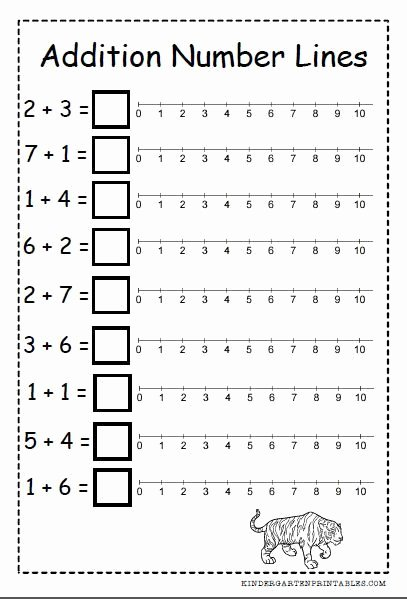 Number Line Worksheets for Preschoolers Inspirational Number Line Addition Worksheets Free Printables Number Line