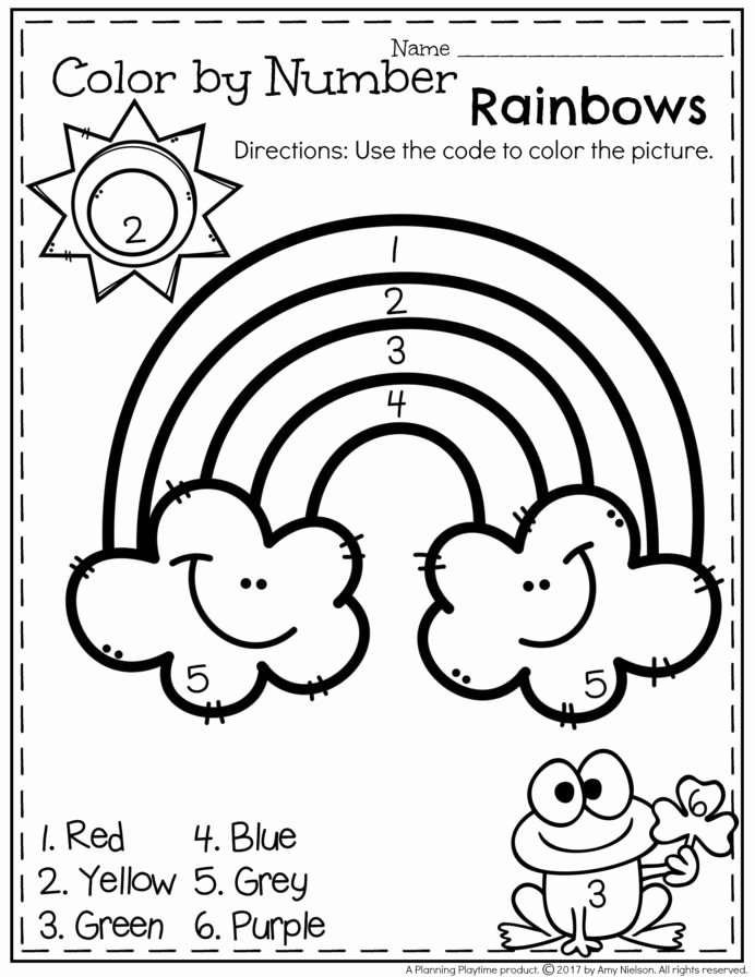 Number Matching Worksheets for Preschoolers Awesome March Preschool Worksheets Numbers Matching for Year Olds