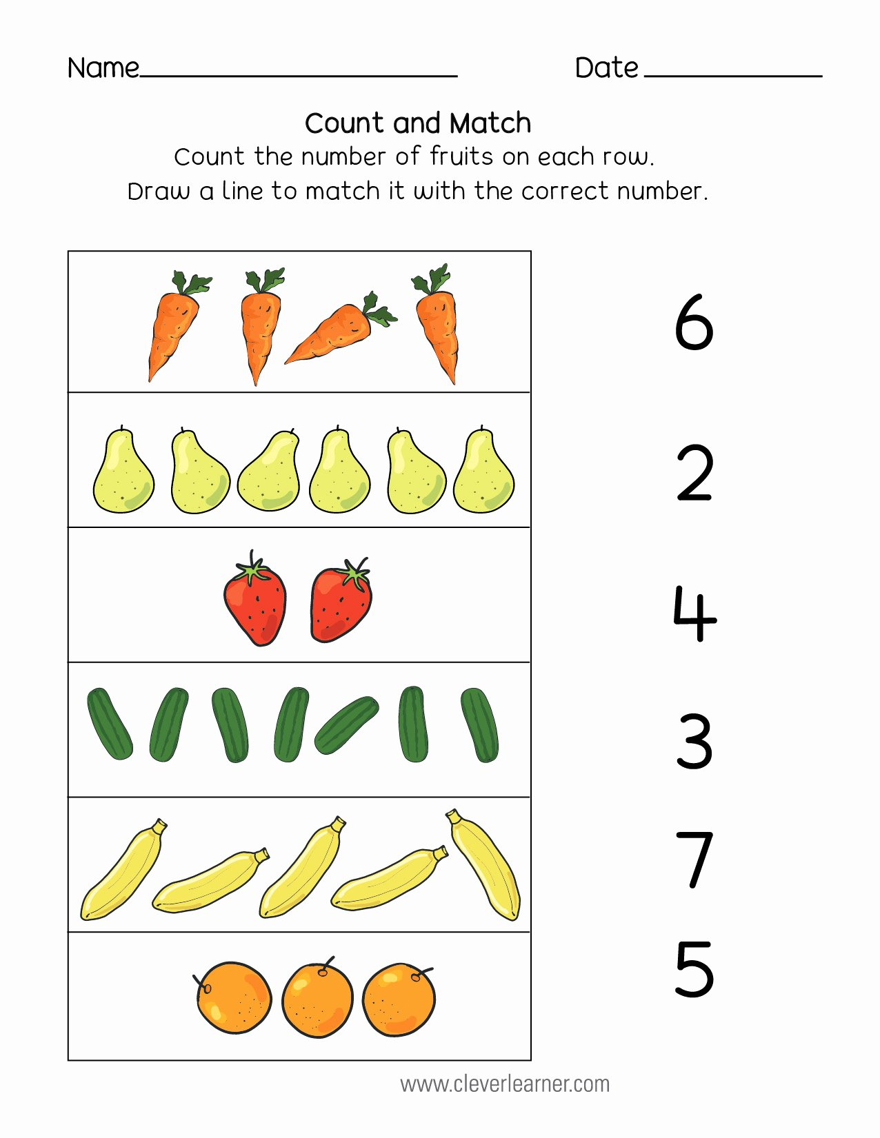 Number Matching Worksheets for Preschoolers top Number Matching Counting and Writing Worksheets Numbers