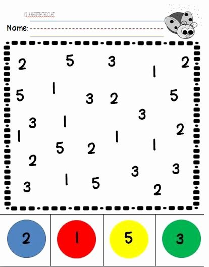 Number Recognition Worksheets for Preschoolers Awesome Number Recognition Practice