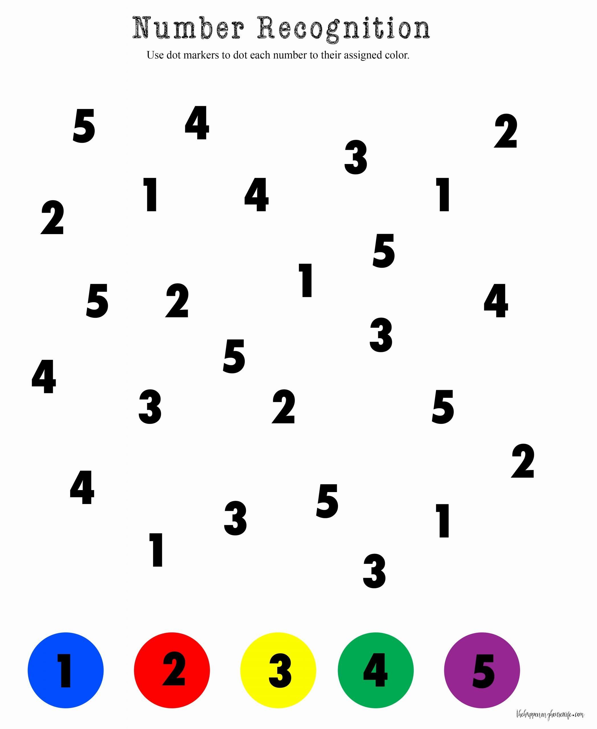 Number Recognition Worksheets for Preschoolers Unique Number Recognition Worksheets for Download Number