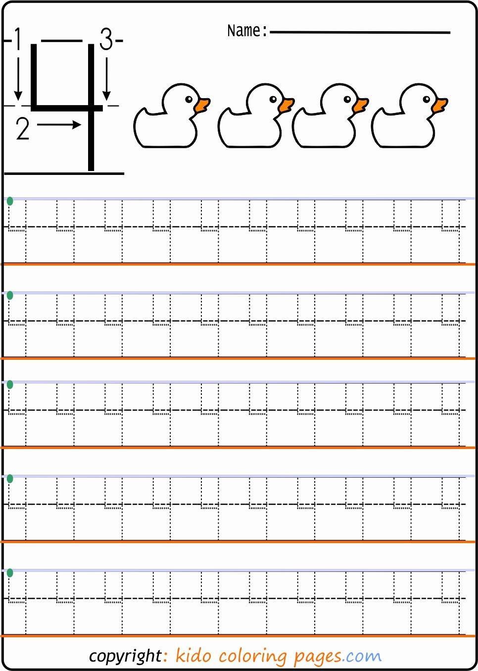 Number Tracing Worksheets for Preschoolers Awesome Number Tracing Worksheets for Preschool Kids Coloring