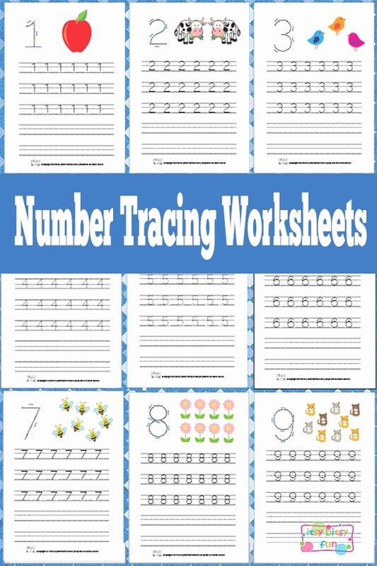 Number Tracing Worksheets for Preschoolers Fresh Number Tracing Worksheets Free Printable Itsybitsyfun