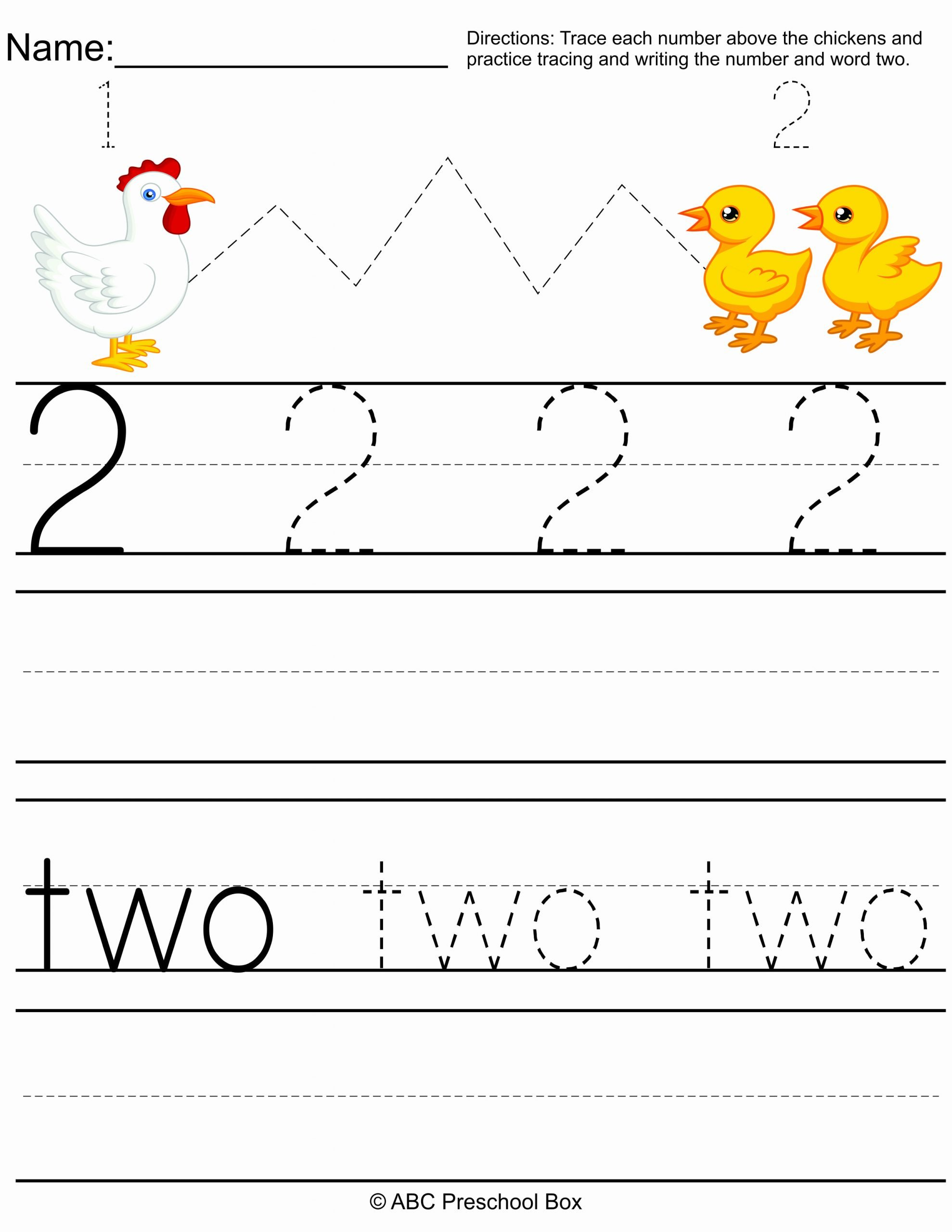 Number Two Worksheets for Preschoolers Beautiful Number 2 Preschool Worksheet From Abcpreschoolbox