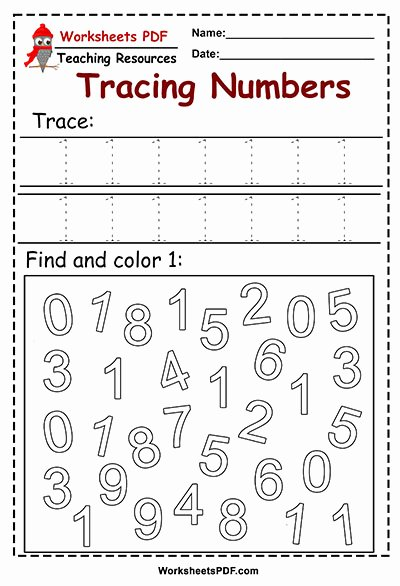 Number Two Worksheets for Preschoolers New Tracing and Color Numbers Preschool Worksheets