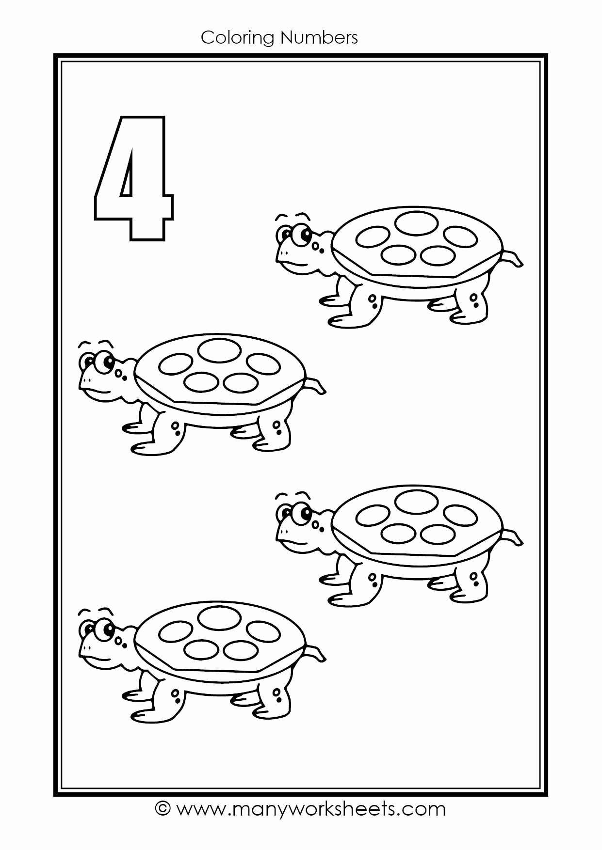 Number Worksheets for Preschoolers Awesome Worksheets Number Coloring Fish theme Numbers Worksheets