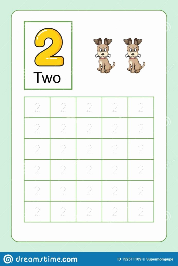 Number Worksheets for Preschoolers Fresh Coloring Pages Number Tracing and Writing Worksheet for