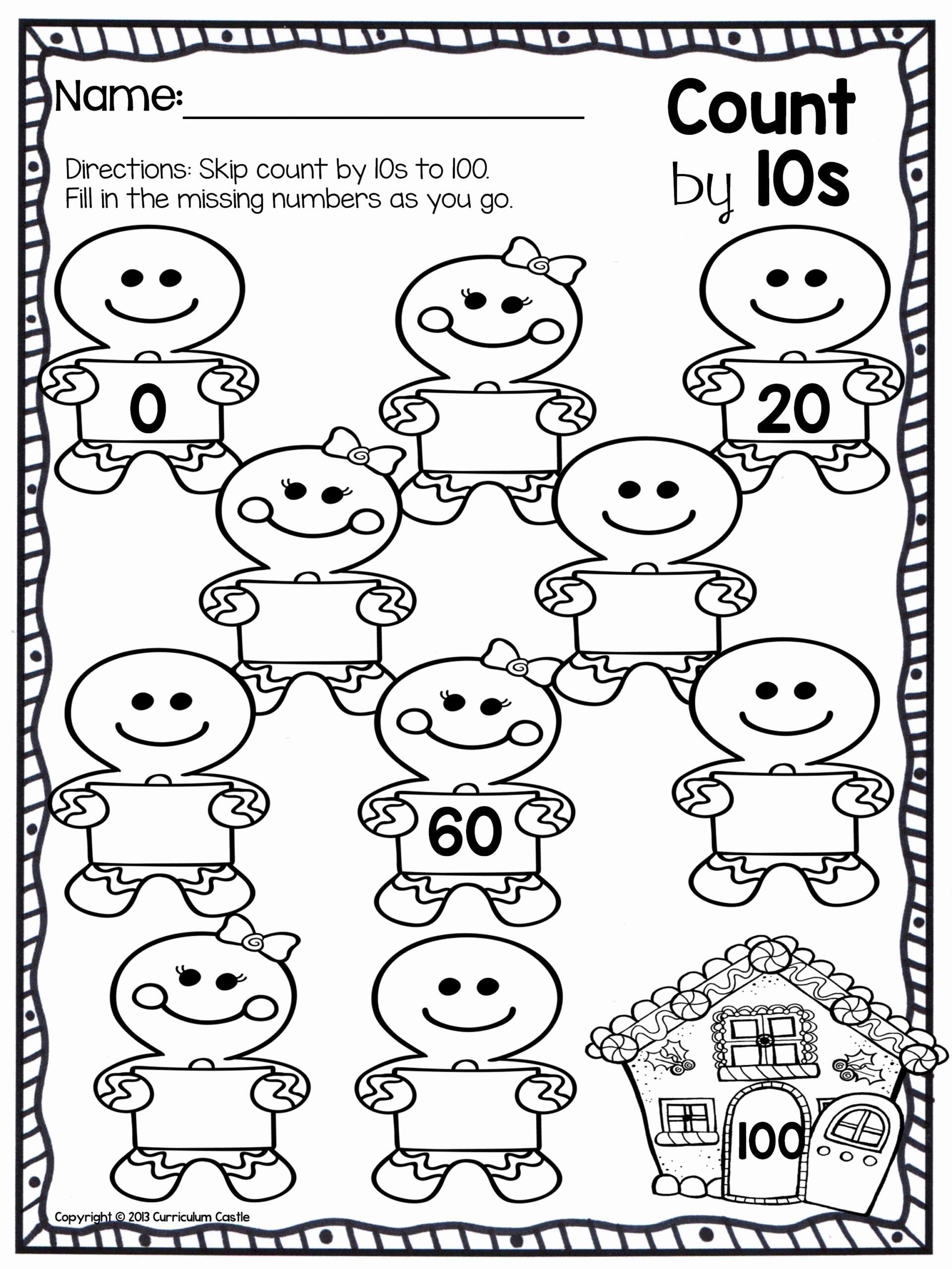 Number Worksheets for Preschoolers top Christmas Counting Worksheets Printable and – Kingandsullivan