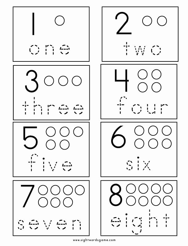 Numbers Worksheets for Preschoolers Beautiful Number Worksheets