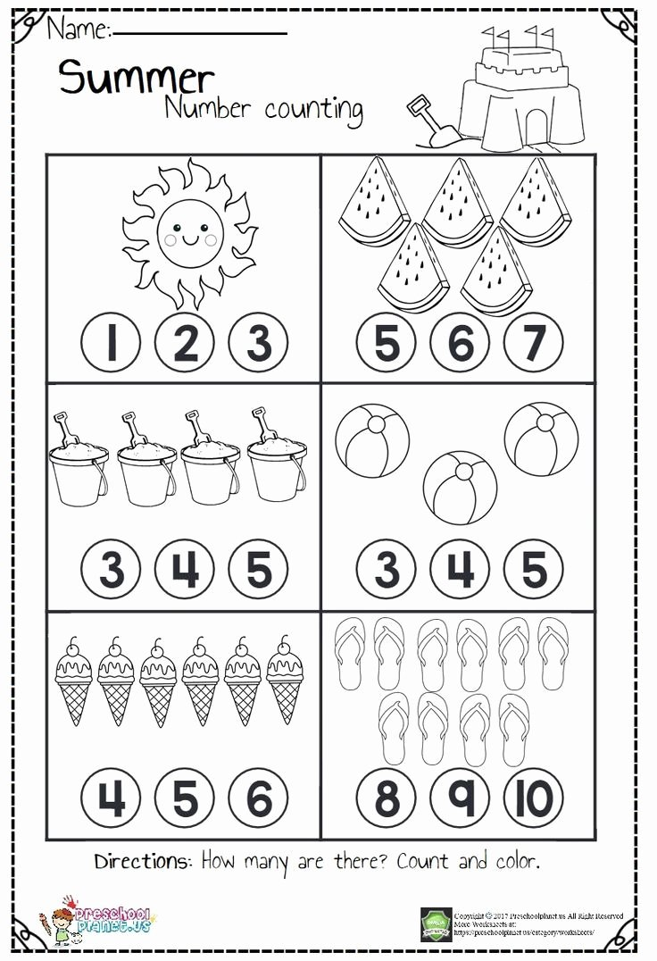 Numbers Worksheets for Preschoolers Best Of Math Worksheet Number Worksheets for Preschool Math Color
