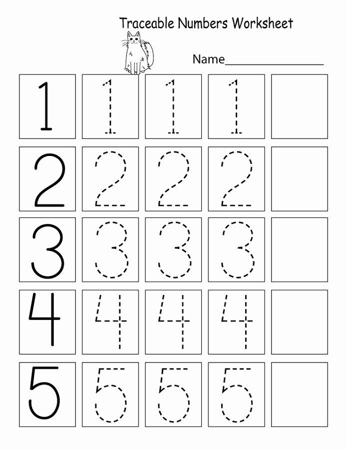Numbers Worksheets for Preschoolers Fresh Trace Number Worksheets for Preschoolers