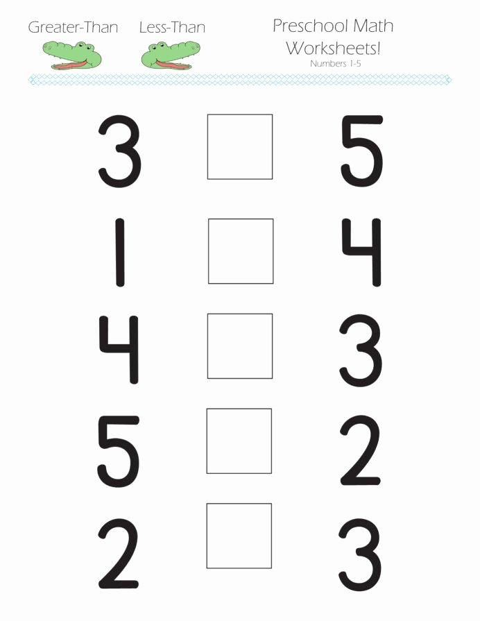 Numeracy Worksheets For Preschoolers Best Of Greater Than Less Preschool  Math Worksheets Free Christmas – Printable Worksheets For Kids