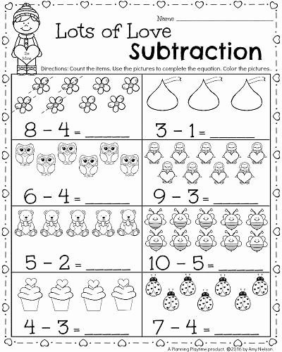 Numeracy Worksheets for Preschoolers Best Of Kindergarten Math and Literacy Worksheets for February