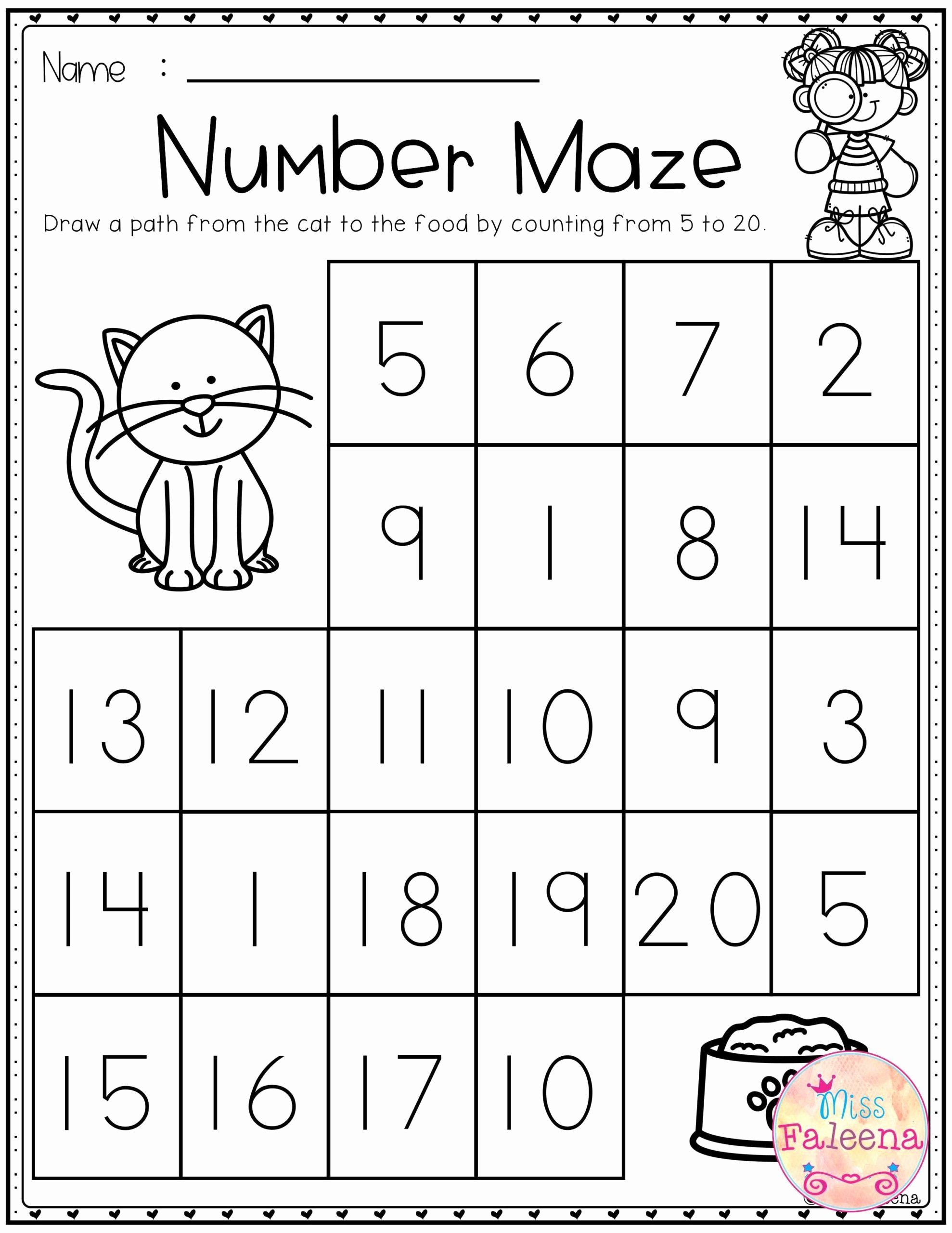 Numeracy Worksheets for Preschoolers Fresh Kindergarten Wisc Iq Test Year Math Worksheets Printable
