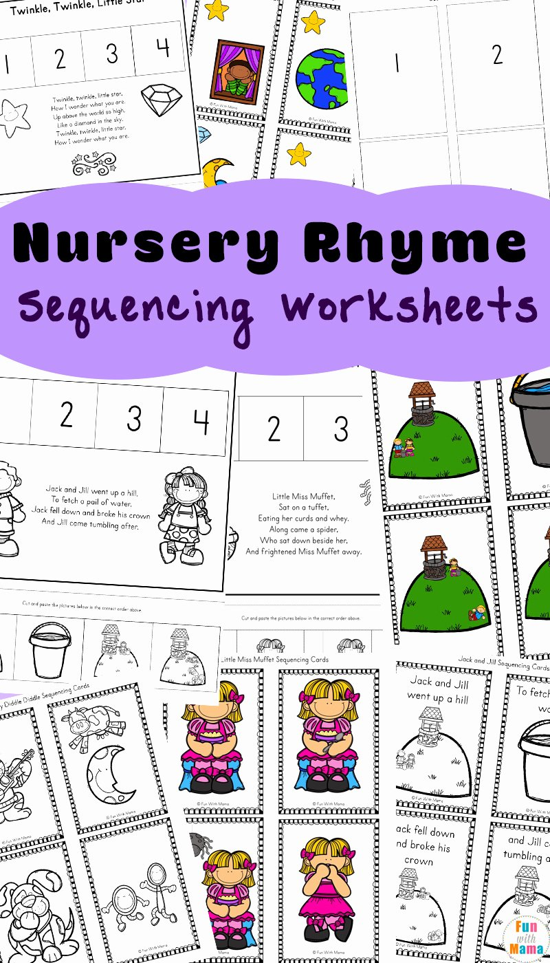 Nursery Rhymes Worksheets for Preschoolers Awesome Free Nursery Rhymes Sequencing Activities Fun with Mama