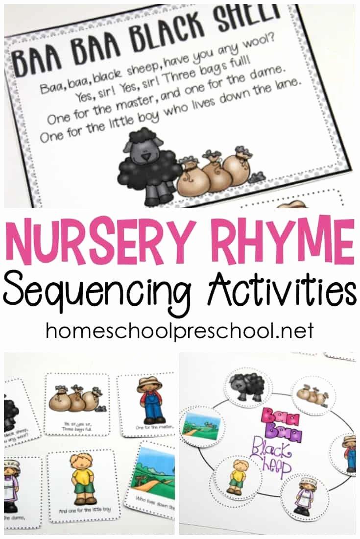 Nursery Rhymes Worksheets for Preschoolers Beautiful Free Printable Nursery Rhyme Sequencing Cards and Posters