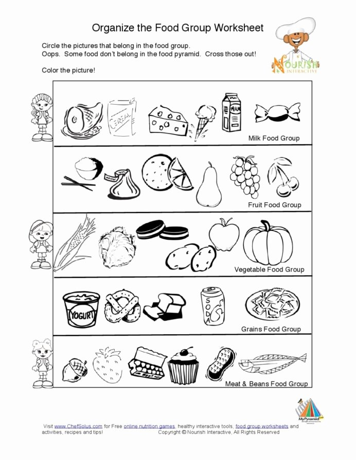 Nutrition Worksheets for Preschoolers Lovely Food Group Worksheets Free Worksheet Groups for Kids Math