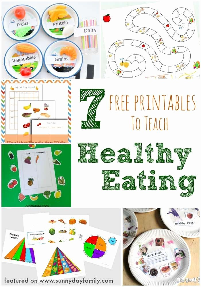 Nutrition Worksheets for Preschoolers New 7 Free Printables to Teach Healthy Eating