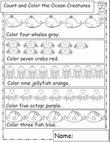 Ocean themed Worksheets for Preschoolers Best Of Ocean Animals