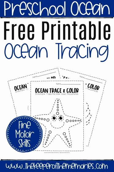 Ocean themed Worksheets for Preschoolers New Free Printable Ocean Tracing Worksheets the Keeper Of the