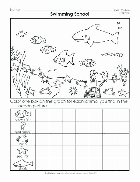 Ocean Worksheets for Preschoolers top Kindergarten Ocean Worksheets Printable Graphing Worksheets