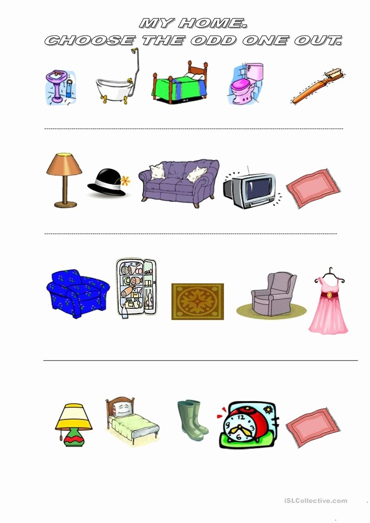 Odd One Out Worksheets for Preschoolers Fresh Odd One Out English Esl Worksheets for Distance Learning