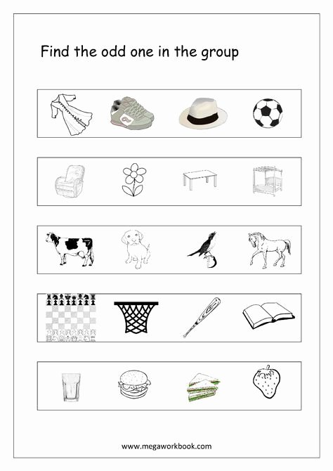 Odd One Out Worksheets for Preschoolers top Free General Aptitude Worksheets Odd E Out