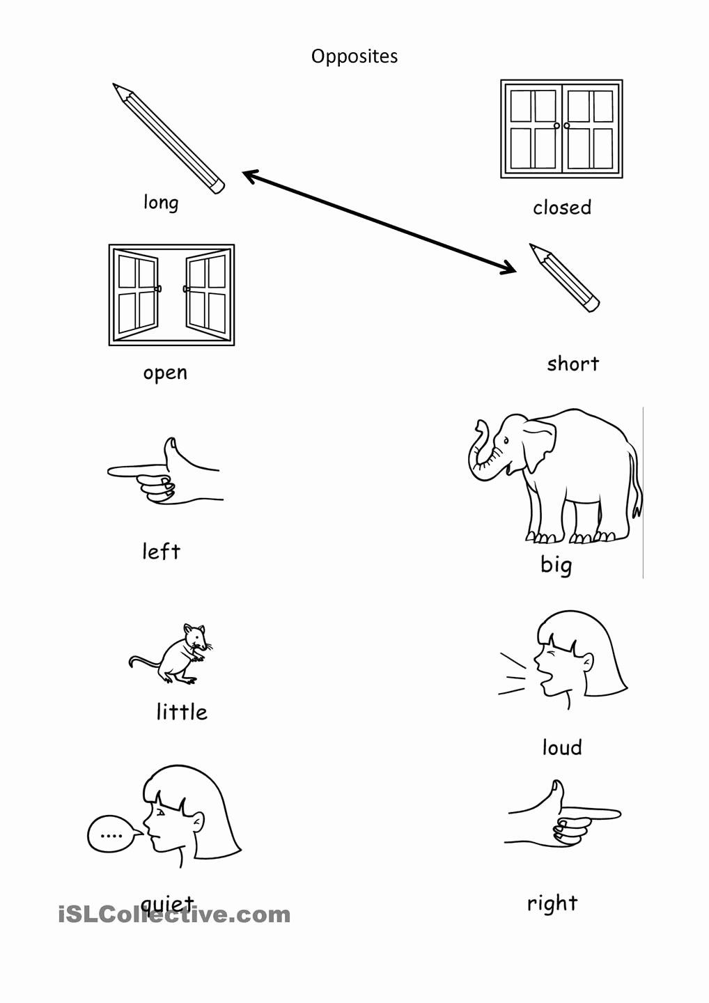 Opposite Worksheets for Preschoolers Awesome Opposites