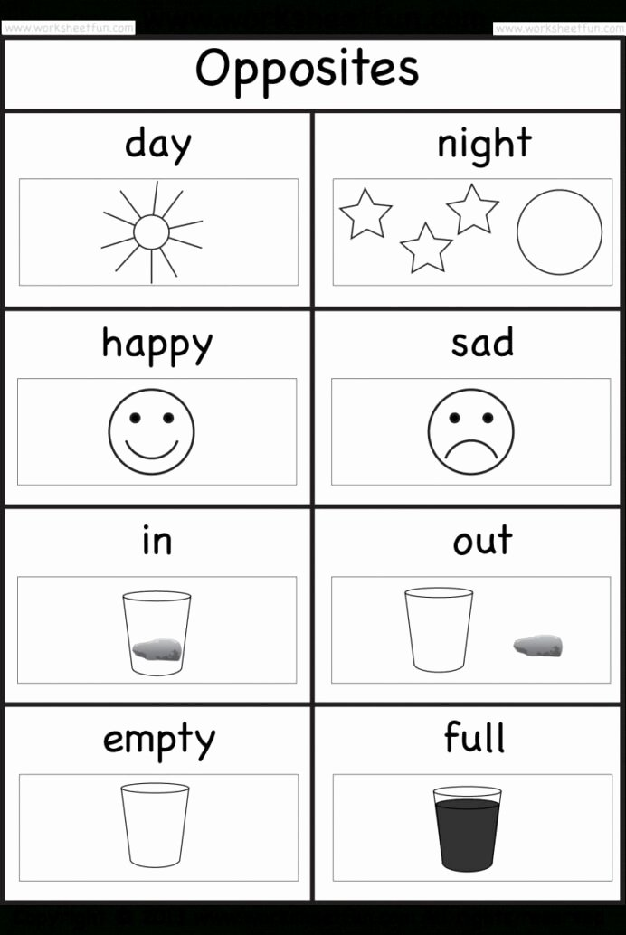 Opposite Worksheets for Preschoolers Beautiful Opposite Worksheet for Preschool Opposites Worksheets Grade
