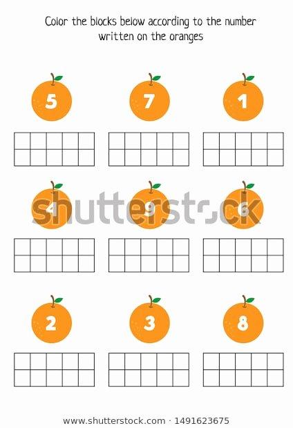 Orange Worksheets for Preschoolers Beautiful Educational Worksheet Kids Games Kids Printable Stock Vector