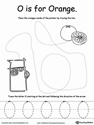 Orange Worksheets for Preschoolers Unique the Letter O is for orange