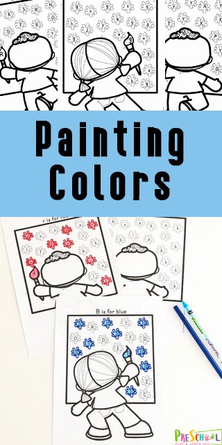 Painting Worksheets for Preschoolers Best Of Free Painting Color Worksheets