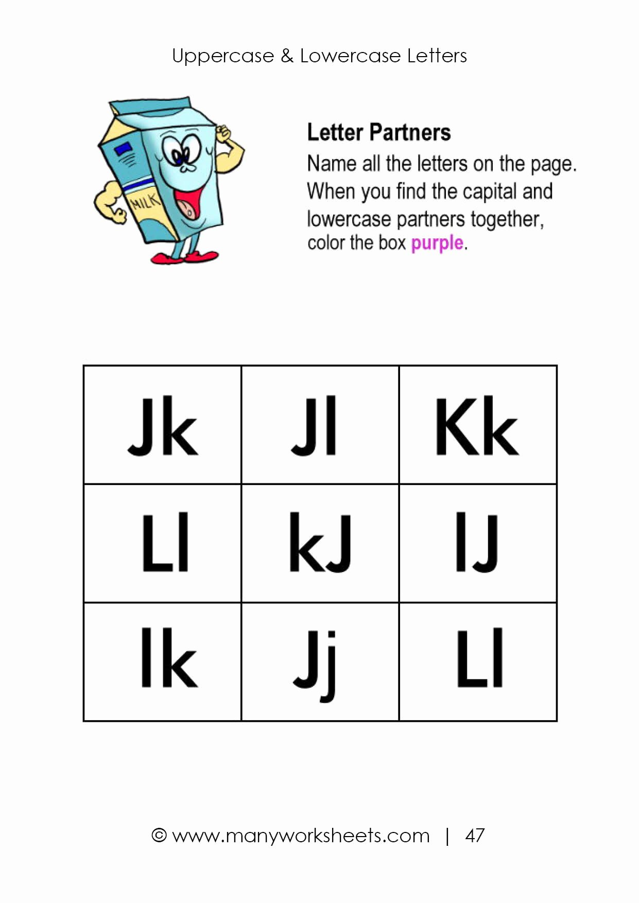 Pairing Worksheets for Preschoolers Beautiful Uppercase and Lowercase Letters Worksheet
