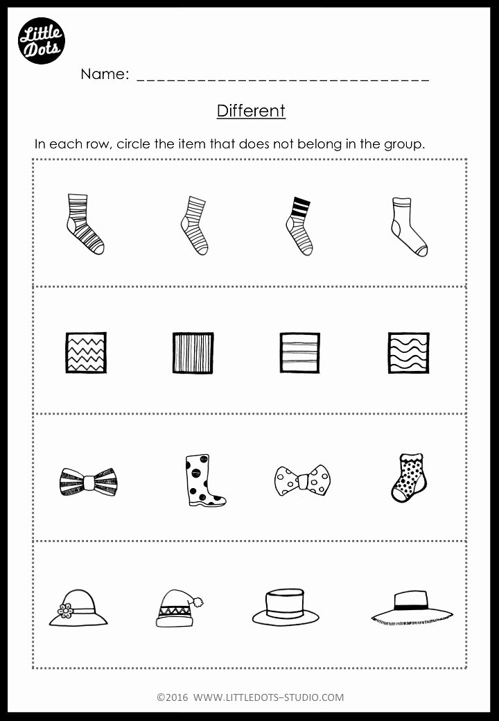 Pairing Worksheets for Preschoolers Lovely Kindergarten Same and Different Worksheets and Activities
