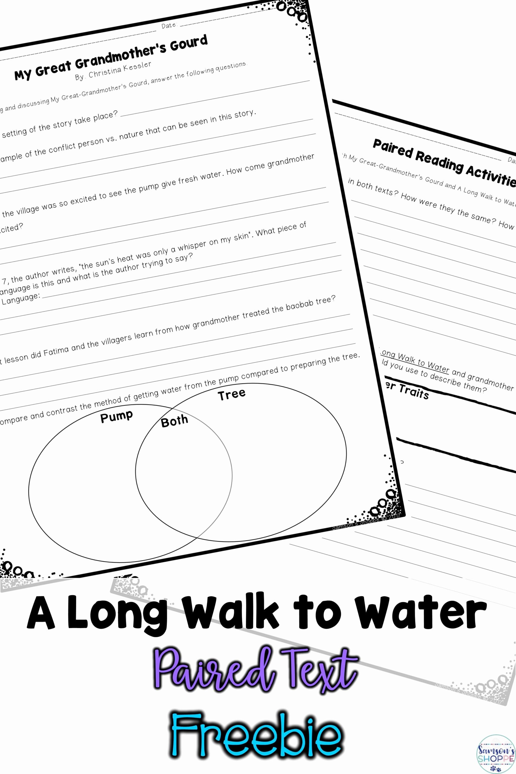 Pairing Worksheets for Preschoolers New Walk to Water Paired Text Using My Great Grandmother