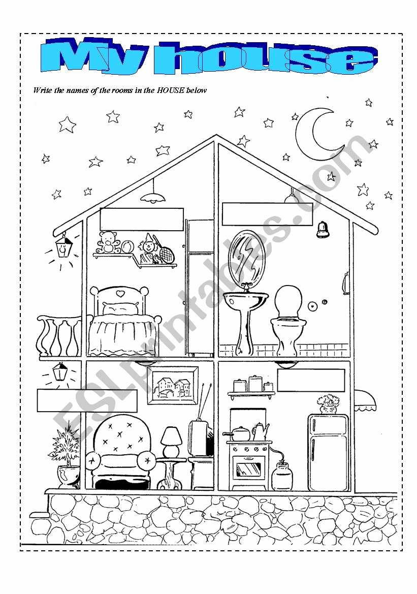 Parts Of the House Worksheets for Preschoolers Best Of Parts the House Esl Worksheet by Marciotga2 Worksheets