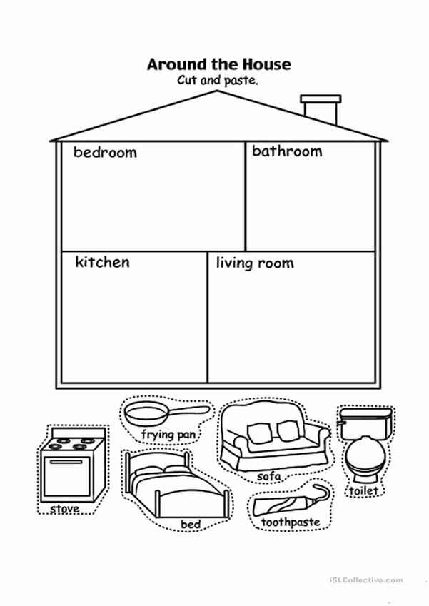 Parts Of the House Worksheets for Preschoolers Fresh Parts Of the House